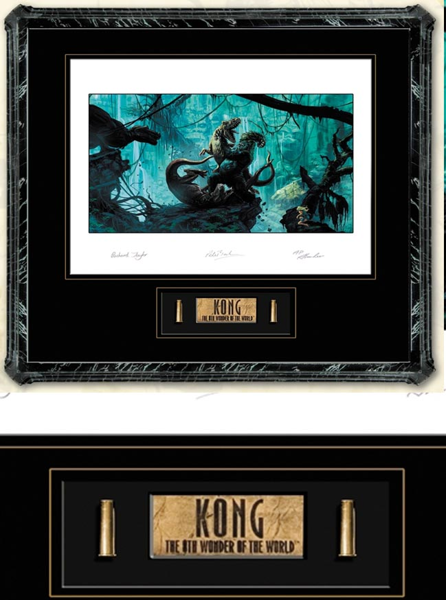 WETA COLLECTIBLES KONG FINE ART LITHO AND PROP