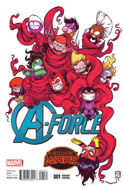 A-FORCE #1 YOUNG VAR SWA